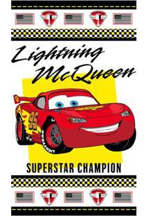 Toalha De Banho Disney Cars® Champions- Branca & Vermelhsantista