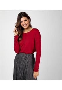 Camiseta Liz Easywear Manga Longa Feminino - Feminino-Vermelho