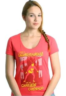 Camiseta Feminina Chapolim Disneylândia Geek10 - Rosa