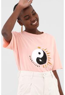 Camiseta Cantão Equilíbrio Coral - Kanui