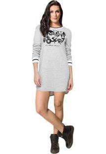 Vestido Moletom Rock Colcci - Feminino-Cinza