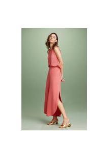 Calça Piquet Color Soltinha Vermelho