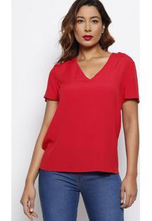 Blusa Lisa Texturizada- Vermelha- Forumforum