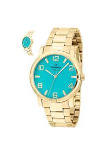 Relógio Analógico Champion Feminino - Cn25181G Dourado