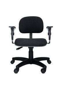 Cadeira Secretária Bits. Tecido. Braços Ajustáveis. Ajuste Da Altura Do Encosto E Assento. Estrutura E Base Preta. Rodízios. Prolabore Produtos Ergonômicos