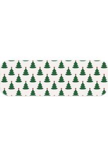 Passadeira Love Decor Wevans Pinheiros Natalinos Verde - Kanui