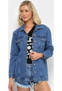 Jaqueta Jeans Farm Silk Refarm Feminina - Feminino-Azul Escuro