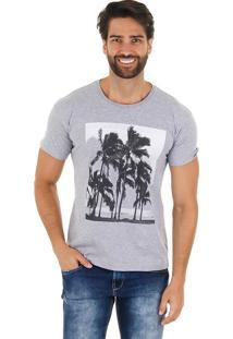 Camiseta Tropical Masculina Maidale - Cinza