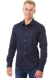 Camisa Abercrombie A&F Masculina Classic Azul Marinho