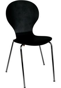 Cadeira Em Madeira Shell 47X51Cm Preta