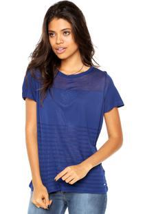 Camiseta Tommy Hilfiger Loris Round Nk Top Ss Azul