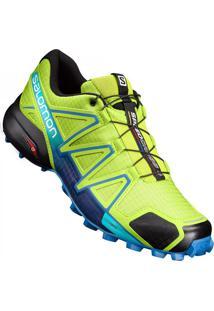Tênis Salomon Masculino Speedcross 4 Verde/Azul 45