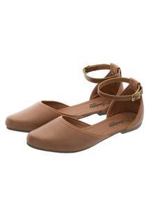 Sapatilha Romântica Calçados Salomé Caramelo