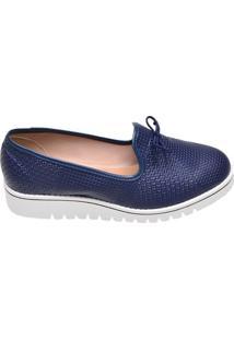 Sapato Feminino Solado Tratorado Beira Rio Azul Marinho