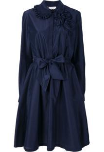 Lanvin Vestido Com Amarração - Azul
