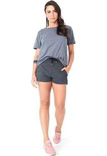 Camiseta Básica Olympikus Feminina - Feminino-Cinza