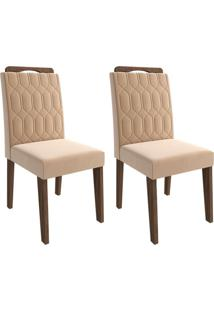 Conjunto Com 2 Cadeiras Paola Marrocos E Nude