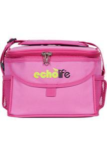 Bolsa Térmica Rosa 5 Litros Com Alça Ajustável - Echolife