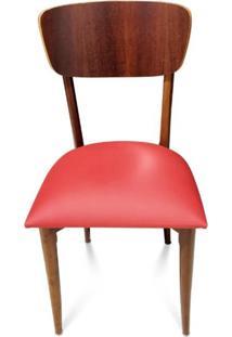 Cadeira Vintage Madeira Maciça Design Retrô
