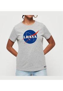 Camiseta Lhasa Feminina - Feminino-Mescla
