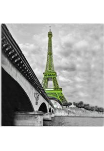Quadro Paris Torre Uniart Verde 45X45Cm