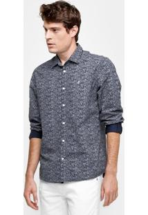 Camisa Forum Regular Libert Masculina - Masculino-Marinho