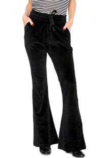 Calça Calvin Klein Jeans Pijama Lisa Preta