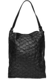 Bolsa Pirarucu Shopping Bag Osklen - Preto