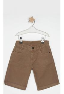 Bermuda Jeans Express Allan Caqui Marrom