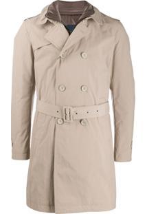 Herno Trench Coat Com Abotoamento Duplo - Neutro