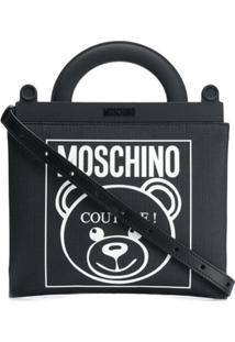 Moschino Bolsa Tote Com Logo 'Teddy' - Preto