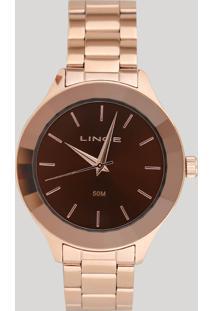 Relógio Analógico Lince Feminino - Lrr4592L N1Rx Rosê - Único