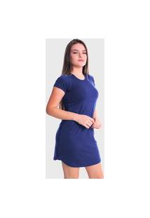 Vestido T-Shirt Blusão Lynnce Azul Marinho