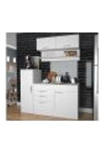 Cozinha Compacta 05 Portas Marajó Cj02 Branco Nova Mobile