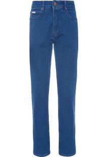 Calça Jeans Masculina Five Pockets Straight - Azul