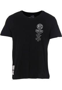 Camiseta Camuflada Masculina Km - Preto
