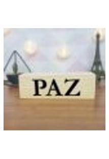 Cubo Decorativo Com Letras Em Acrílico Paz Único