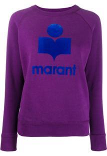 Isabel Marant Étoile Suéter Com Estampa De Logo - Roxo