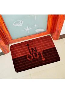 Capacho Carpet In Out Vermelho