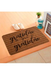 Capacho Carpet Gratidão Gera Gratidão Marrom