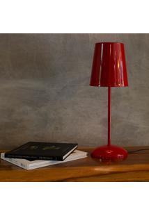 Luminária De Mesa Manu - Marilena G - Vermelho