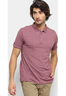 Camisa Polo Broken Rules Frisos Botões Masculina - Masculino-Vinho