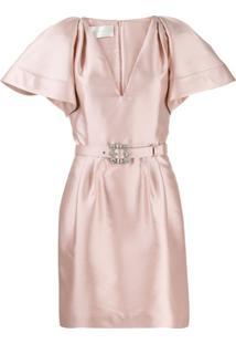 Alberta Ferretti Belted Mini Dress - Rosa