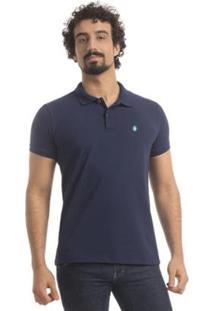 Camisa Polo Zaiden Store Piquet Zaiden Basic V1 - Masculino-Azul Escuro