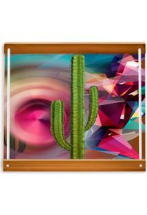 Bandeja Cactus Griselda 45 X 35 Cm Vickttoria Vick Rosa