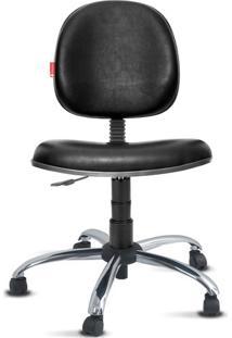Cadeira Executiva Giratória Cromada Courvin Preta