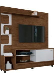 Estante Home Painel Para Tv Até 50 Pol. Palace Canyon/Branco - Hb Móveis