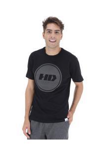 Camiseta Hd Basic Color - Masculina - Preto
