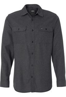 Camisa Blanks Co Flanela 8200 Charcoal - Masculino-Chumbo