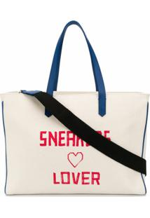 Golden Goose Bolsa Tote De Canvas Com Estampa Sneakers Lover - Neutro